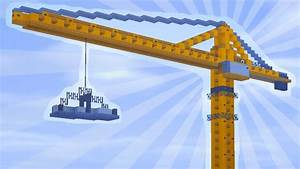 How To Build A Construction Crane In Minecraft  Creative