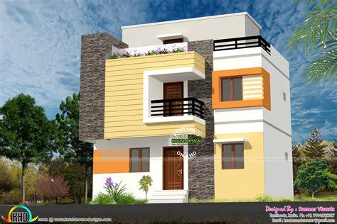 2 Floor Home Design : 1200 Sq-ft Low Budget G+2 House Design