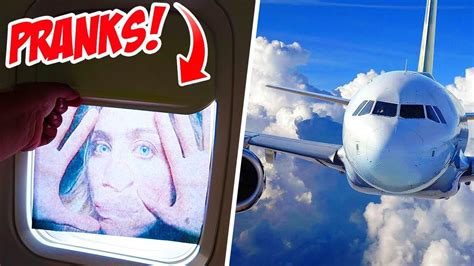 funny airplane pranks youtube