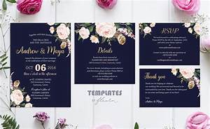 Wedding invitation template navy blue images invitation for Wedding invitation template for sale