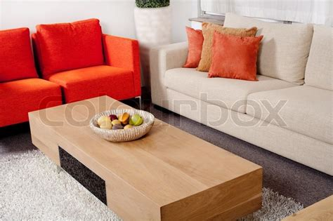 Home Interior Mlm : Trendy Living Room With Fashionable Furniture