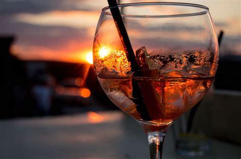 Aperol Spritz Cocktail In Sunset