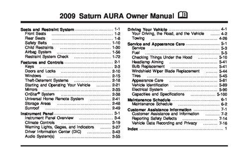 saturn aura owners manual  give   damn manual