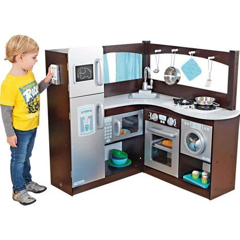 cuisine jouer ma grande cuisine d 39 angle en bois imitation jouets en