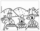 Halloween Coloring Coloriage Potions Occasions Holidays Special Witches Warlocks Boowa Kwala Uptoten Games Coloriages sketch template