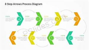 8 Step Arrows Process Diagram