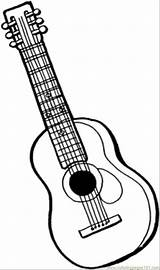 Coloring Instruments Pages Guitar Printable String Instrument Outline Musical Drawing Mandolin Colouring Acoustic Sheets Adult Template Bass Sheet Line Getcoloringpages sketch template