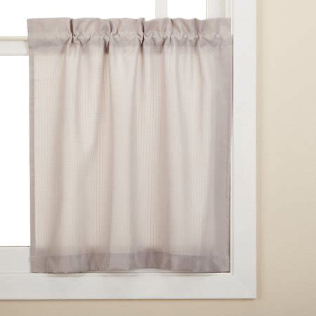 Solid Gray Valance by Gray Opaque Solid Ribcord Kitchen Curtains Choice Of Tier