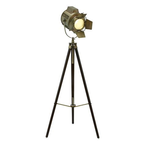 Woodland Imports 4668 Wood Tripod Spot Light Floor Lamp