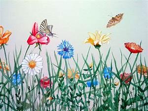 Blumen Bilder Gemalt : blumenwiese gemalt von oben google suche diverse kunst diverse art pinterest malen ~ Orissabook.com Haus und Dekorationen