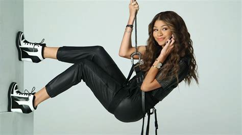 zendaya takes us behind the scenes of 'k c undercover poster photo shoot watch here