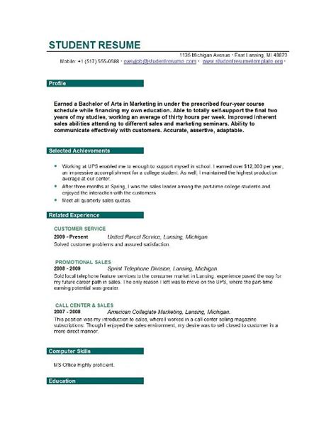 resume exles for objectives for students easyjob resumes that get you interviews