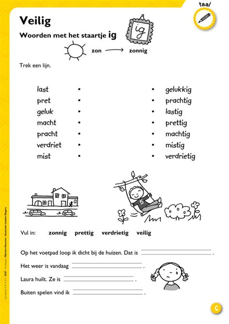 Werkblad Groep 4 Sch by Woorden Met Ig Werkblad Keireeen School Spelling