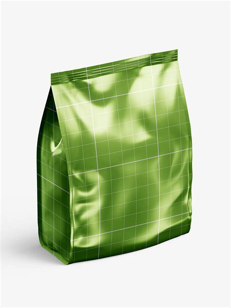Instead of spending time making your own mockup why not take advantage and let it do a realistic presentation of your design. Metallic food bag mockup - Smarty Mockups