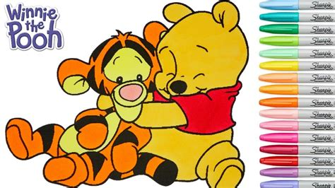 disney coloring book winnie  pooh baby tigger colouring