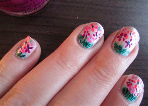 Josie's Nails Flower Garden Nail Art