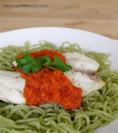 tilapia  roasted red pepper sauce step