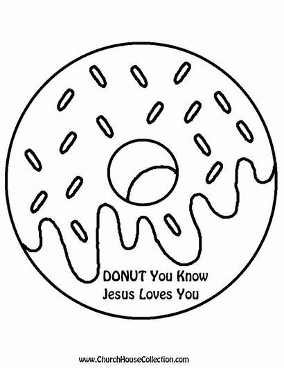 Donut Coloring Printable Template Pages Sunday Know