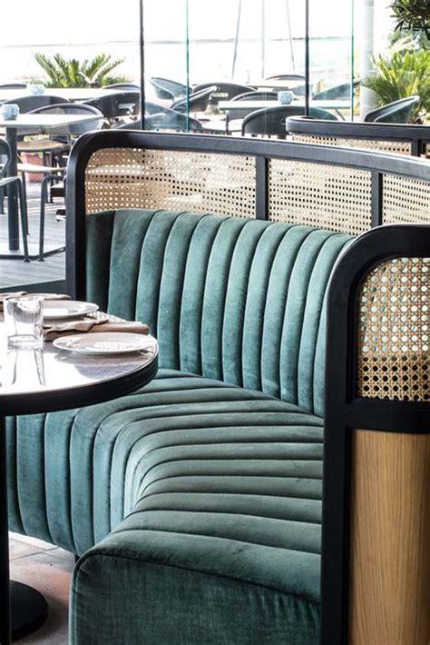 restaurant design banquette seating  home studio