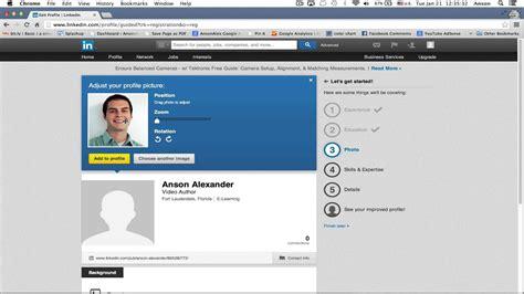 Linkedin Tutorial Creating Profile Youtube