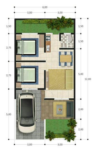 koleksi denah rumah minimalis ukuran  meter