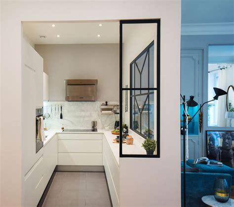 plan de travail separation cuisine sejour beautiful une cuisine avec verrire de caractre imagine par