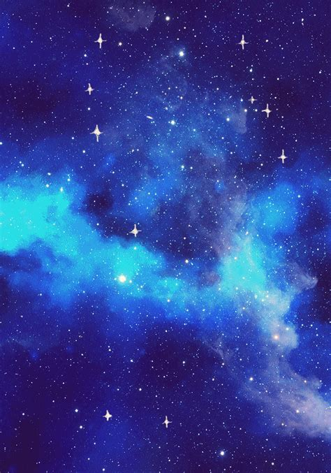 galaxy blue aesthetic wallpapers