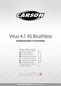 Carson Modelsport Virus 4 1 4s Brushless Manual