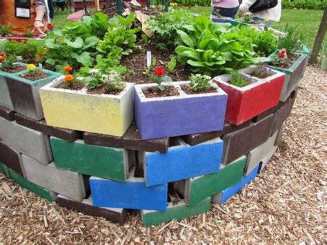 cinder block garden ideas furniture planters walls  decor