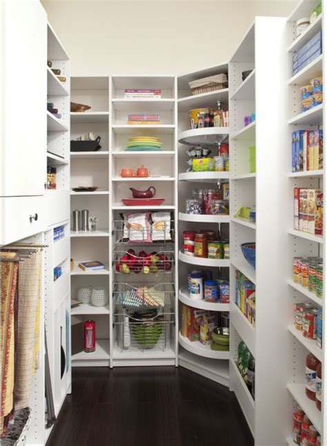 15 Handy Kitchen Pantry Designs With A Lot Of Storage Room