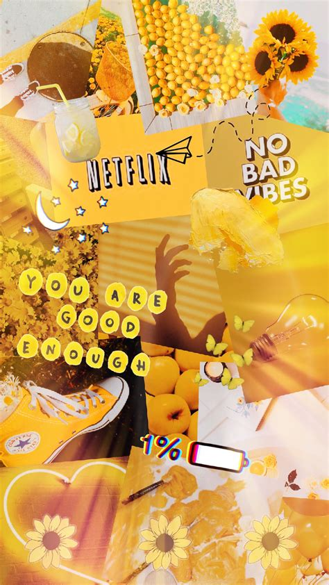 yellow aesthetic stickers wallpaper background