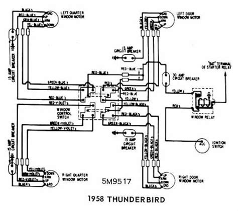 1958 Ford Wiring Diagram by Ford Thunderbird 1958 Windows Wiring Diagram All About