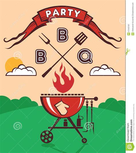 barbecue party invitation stock vector image