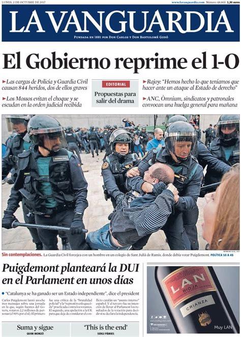 Las portadas de los periódicos de hoy, lunes 2 de octubre ...