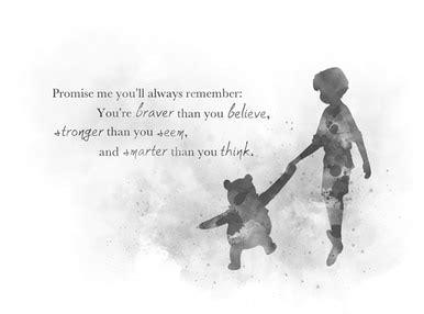 winnie  pooh quote art print christopher robin nursery