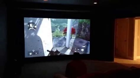 Gaming on 120 Inch Projection Screen YouTube