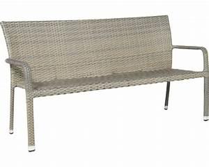 Gartenbank 3 Sitzer : gartenbank 3 sitzer havanna polyrattan 62 x 172 x 83 cm sandgrau jetzt kaufen bei hornbach ~ Buech-reservation.com Haus und Dekorationen
