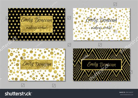 Set 4 Gold White Business Card Stock Vector 284144297 Business Card Reader For Laptop Non Cards Mockup Photo App Ios Wikipedia Walmart Cordova Design Fast