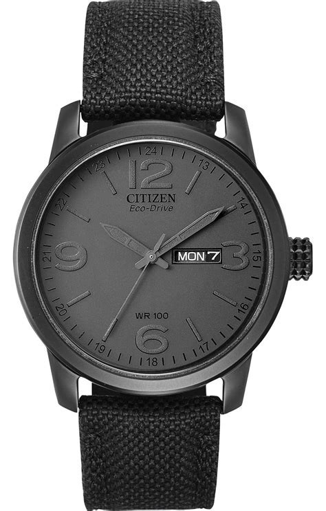 Citizen Eco Drive Black Sport Mens Watch   BM8475 00F