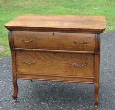 antique tiger oak secretary desk drop front book shelf