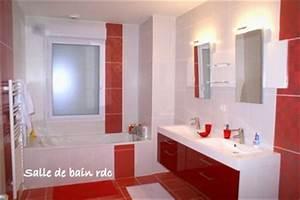 faience salle de bain rouge et blanc With salle de bain rouge et blanche