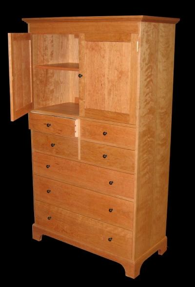 drawer cherry dresser  cabinet ebony knobs