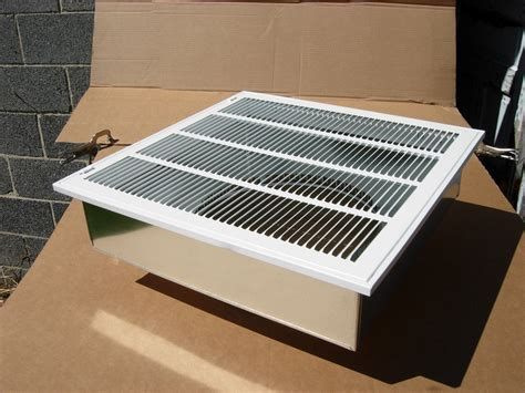 decorative return air grille 20 x 20 20 x20 furnace return air kit with filter grille box and