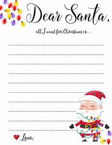 dear santa letter free printable downloads With santa letters 2017