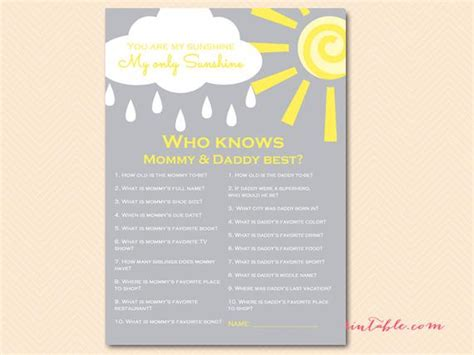 Who Knows  Ee  Mommy Ee   And  Ee  Daddy Ee   Best  Ee  Game Ee   Printable Coed  Ee  Baby Ee