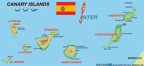 Map Of Canary Islands Spain Map In The Atlas Of The