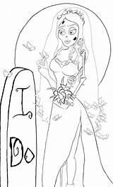 Corpse Coloring Bride sketch template