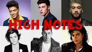 MALE SINGERS HITTING HIGH NOTES (C5-C6) - YouTube