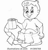 Potty Training Coloring Pages Clipart Workout Illustration Printable Royalty Visekart Getcolorings Print Rf sketch template