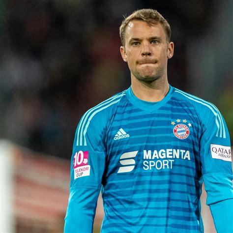 Manuel neuer is a professional german soccer player and plays as the goalkeeper for the bayern munich as well as the german national team. Manuel Neuer Expects to Recover from Injury in Time for Liverpool UCL Clash | Bleacher Report ...